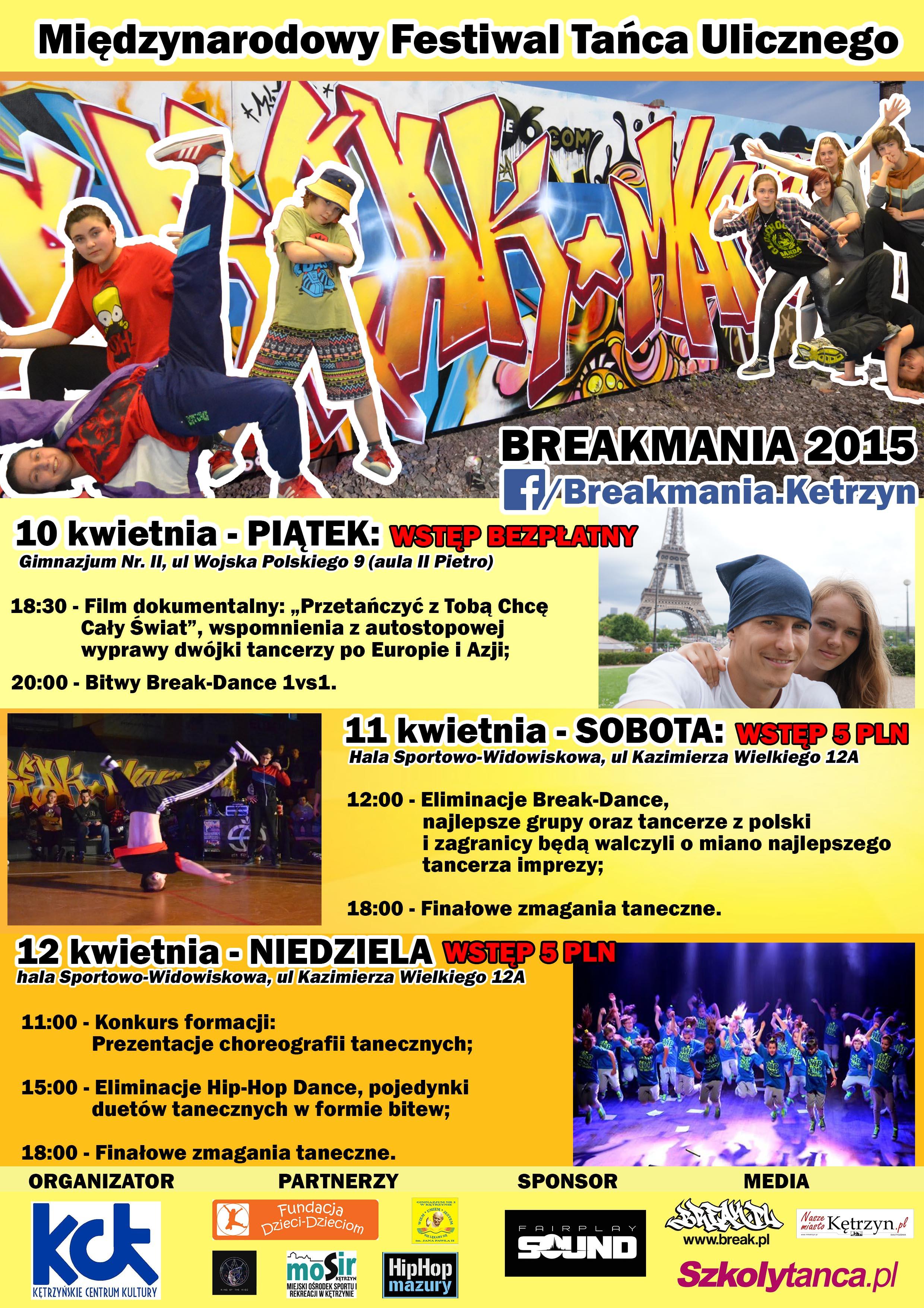 Breakmania 2015 - Oficjalny Plakat