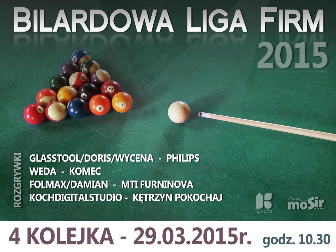bilardowa liga firm 1 4 KOLEJKA