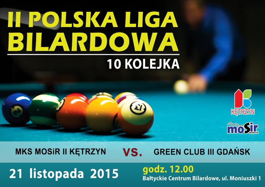 10 kolejka II Polskiej Ligi Bilardowej