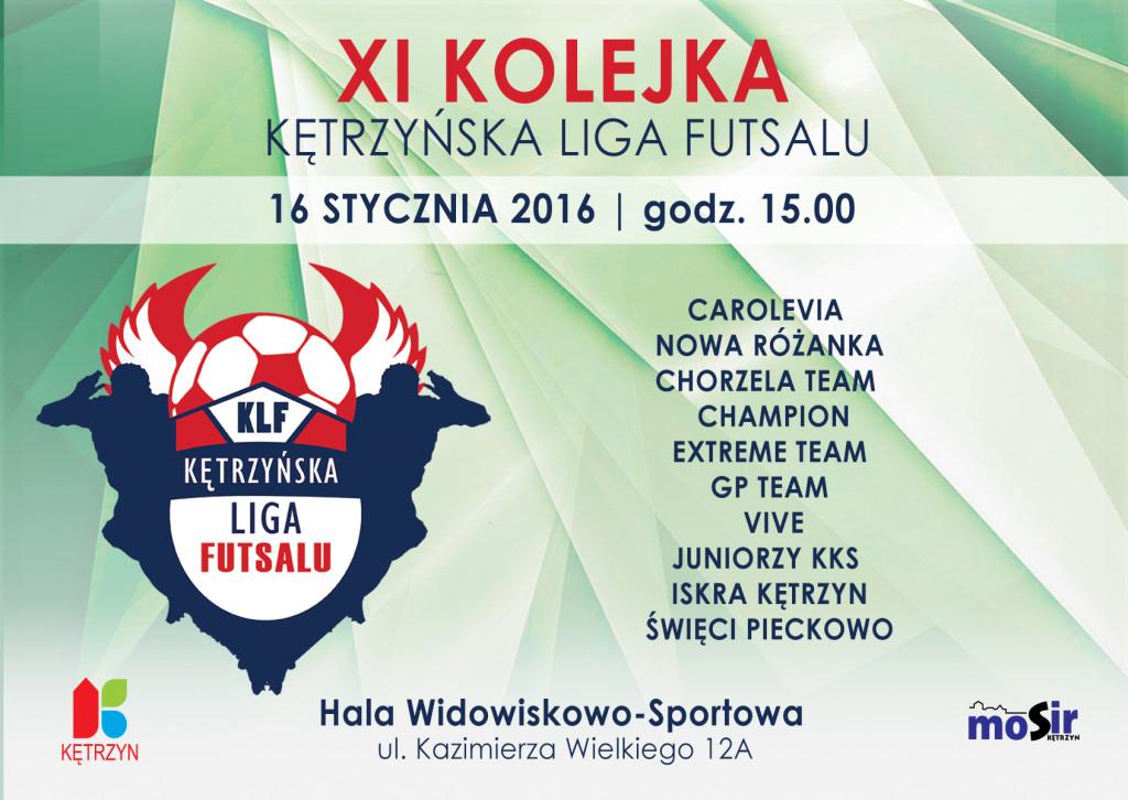 XI kolejka Kętrzyńskiej Ligi Futsalu