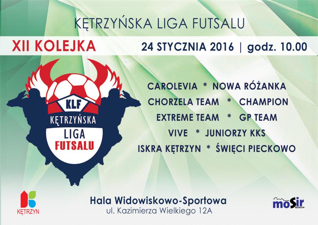 XII kolejka Kętrzyńskiej Ligi Futsalu