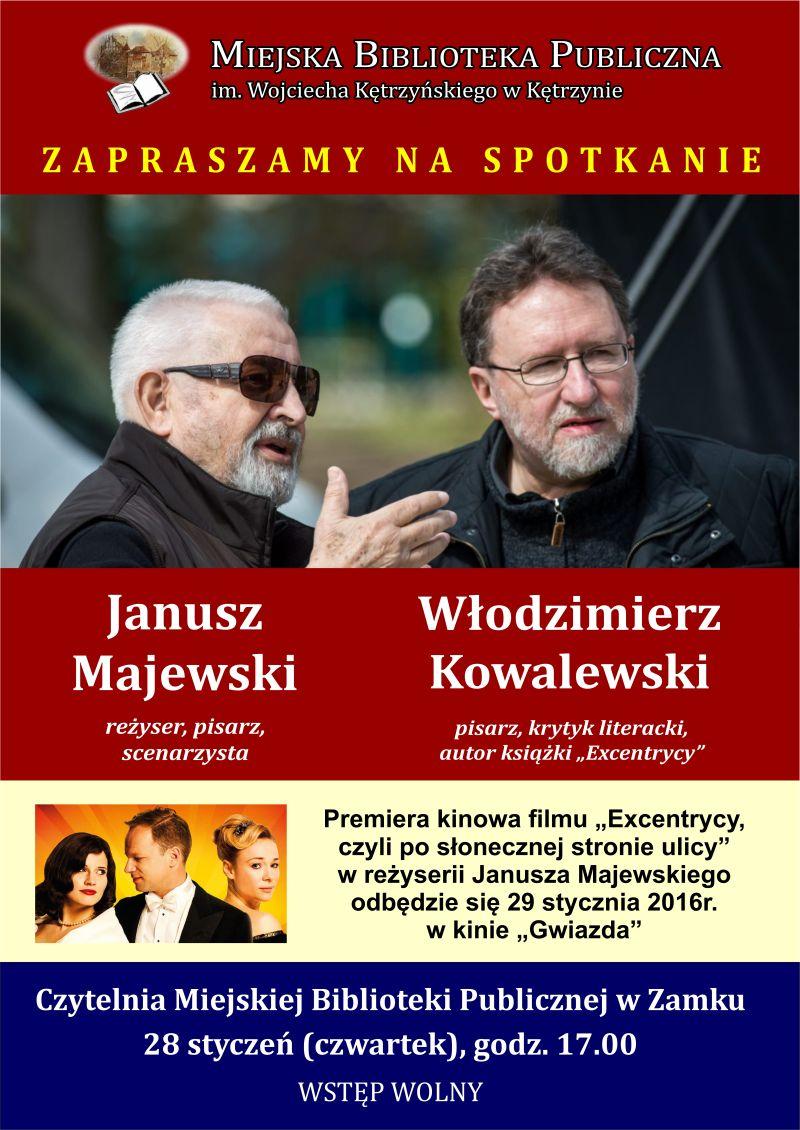 Spotkanie autorskie – Janusz Majewski i Włodzimierz Kowalewski