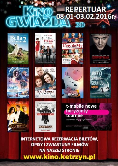 Repertuar Kino Gwiazda 8.01.-3.02.2016r.