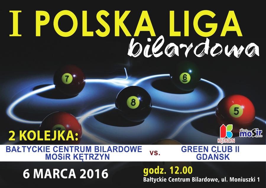 2 kolejka I Polskiej Ligi Bilardowej