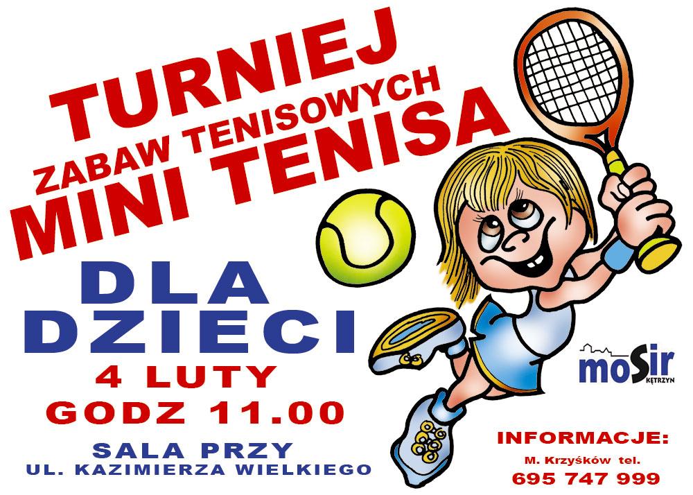 Turniej Zabaw Tenisowych Mini Tenisa dla Dzieci