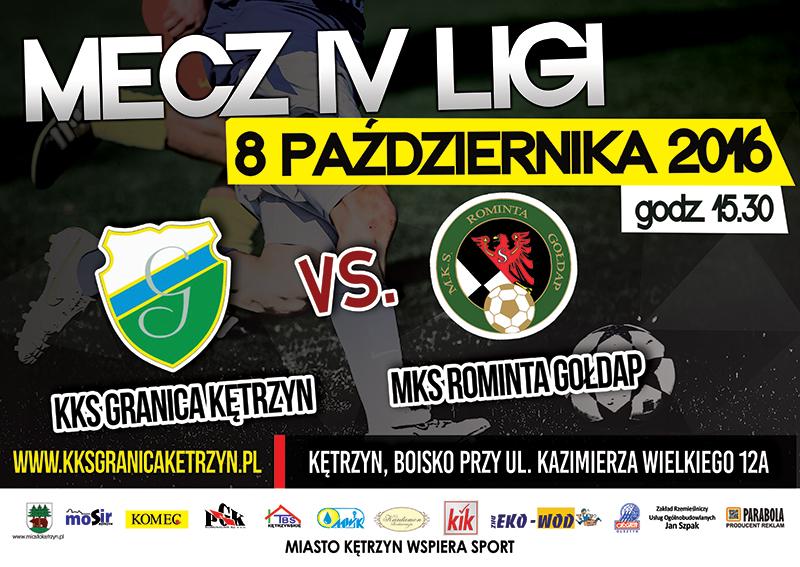 Mecz IV ligi: KKS Granica Kętrzyn – MKS Rominta Gołdap