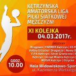 XI Kolejka Kętrzyńskiej Amatorskiej Ligi Piłki Siatkowej Mężczyzn