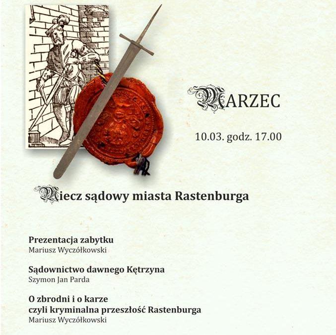 Akademia 660-lecia : Miecz sądowy miasta Rastenburga