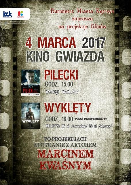 """Projekcje filmów """"Pilecki"""" i """"Wyklęty"""""""