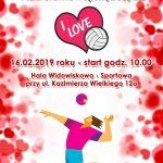 Walentynkowy Otwarty Turniej Piłki Siatkowej Mężczyzn 16.02.2019 10:00