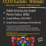 XXXVI Kaziuki – Wilniuki na Ziemi Warmińsko – Mazurskiej